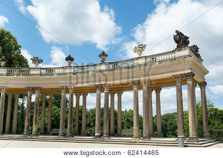Colonnade From The 18Th Century In Potsdam, Brandenburg, Germany