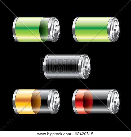 Battery Set Vector Illustration