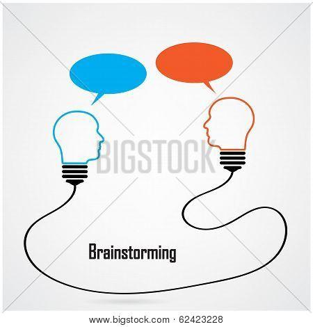 Creative Light Bulb Idea And Brainstorming Concept