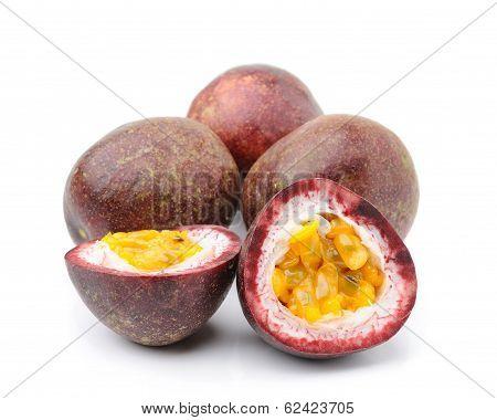 Passionfruit Isolated On White Background