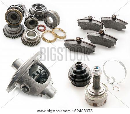 Set of auto parts.