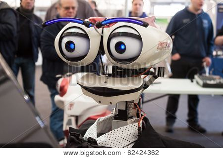 Robotic Head At Robot And Makers Show