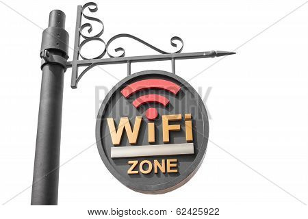 Wifi Hotspot Sign Pole