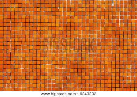 Orange Tile Wall