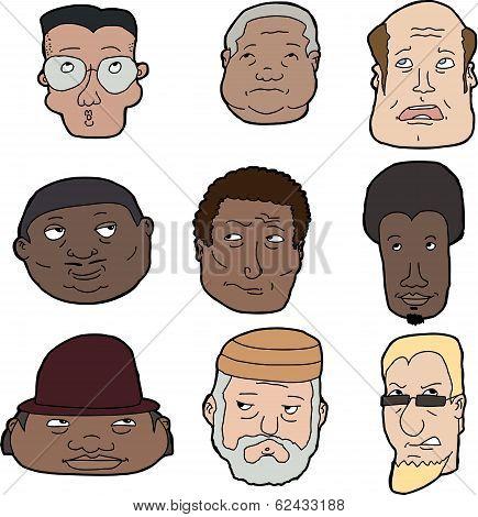 Nine Men Looking Up