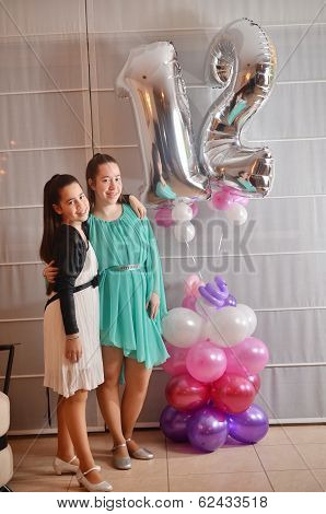 Bat Mitzvah Girl With Her Older Sister