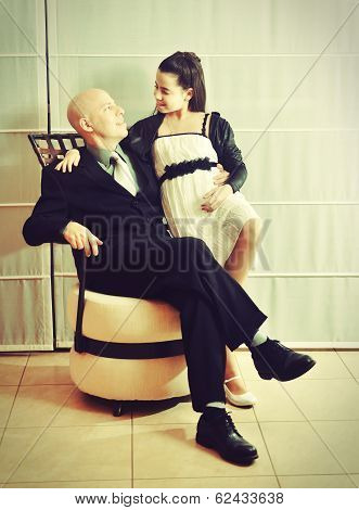 Father And Daughter: A Bat Mitzvah Girl With Her Father