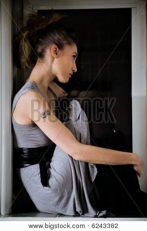 Enmarcado en la ventana