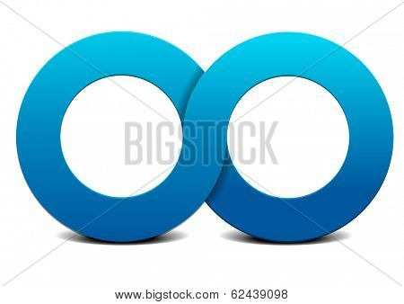 detailed illustration of an infinity symbol, eps10 vector