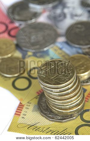 Australian Coins on Notes