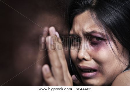 Injured Woman Terrified
