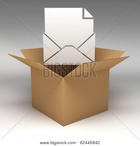 Cardboard Boxes 3D Illustration