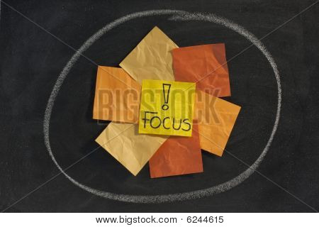 Focus Concept On Blackboard