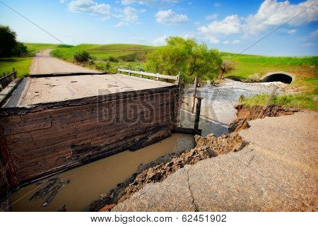 Flood Damaged Road