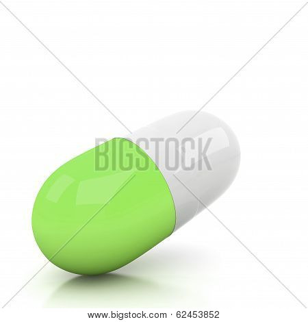 3D Pill Isolated On White
