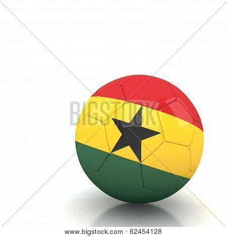 Ghana Soccer Ball Isolated White Background