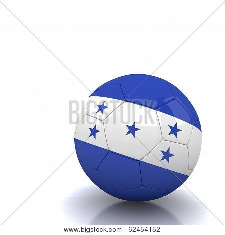 Honduras Soccer Ball Isolated White Background