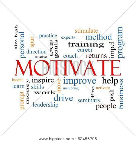 Motivate Word Cloud Concept