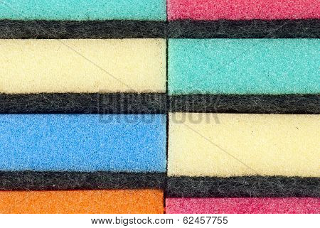 Stacked Kitchen Sponges