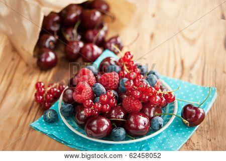 Berries On Table