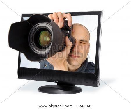 Paparazzi Through A Computer Screen