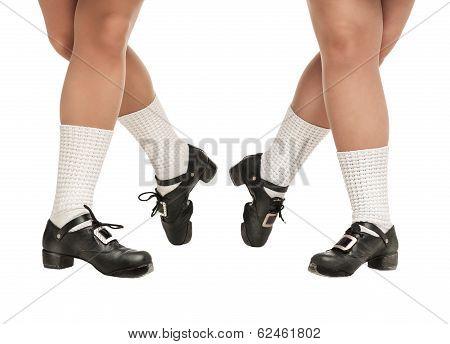 Legs In Hard Shoes For Irish Dancing