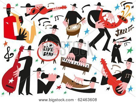 jazz musicians - vector illustration