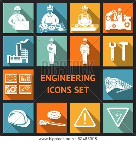Flat Engineering Icons Set