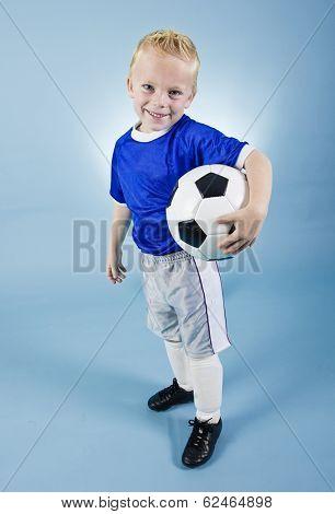 Cute little Soccer Star Portrait