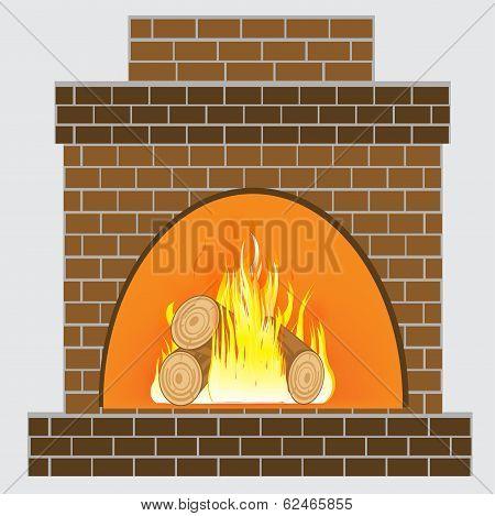 Heater from brick