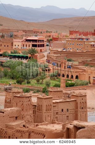 View From Kasbah Ait Benhaddou