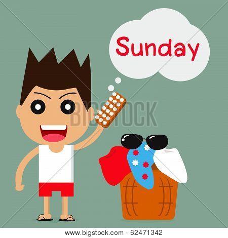 Businessman With Sunday