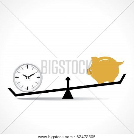 time is more important than money concept