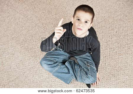 Boy Threatening Top View