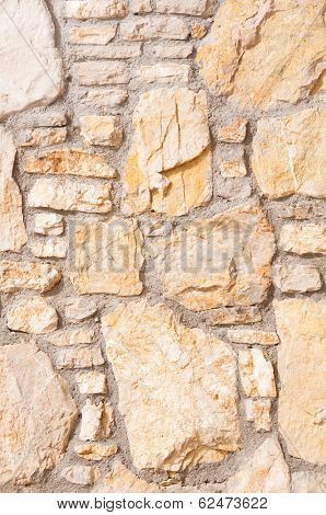 Vertical Stone Background Wall Of Stonework