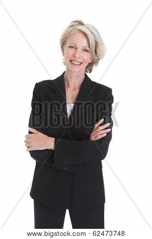 Portrait Of Excited Businesswoman