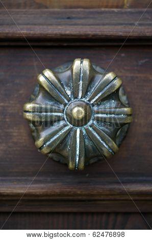 Old Venetian Gilded Door Handle In Venice