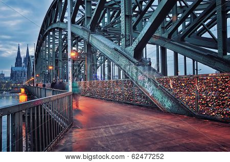 Hohenzollern Bridge In Cologne, Germany