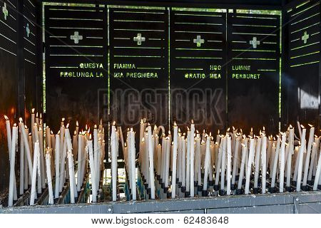 Votive Candles Burns At Lourdes