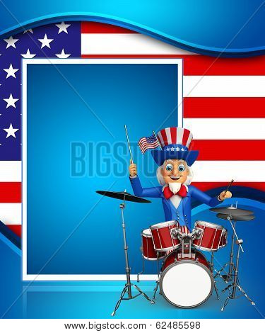 uncle sam with drums