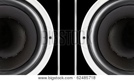 Pair Of Black Sound Speakers Membrane