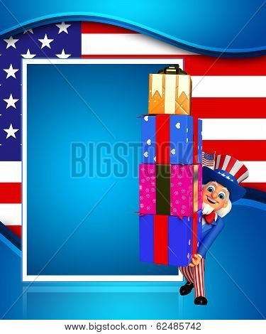 uncle sam with gifts
