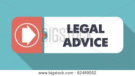 Legal Advice on Blue in Flat Design.