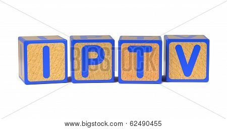 IPTV - Colored Childrens Alphabet Blocks.