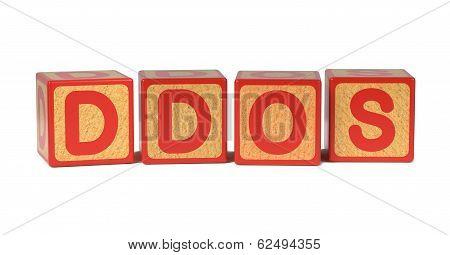 DDOS - Colored Childrens Alphabet Blocks.
