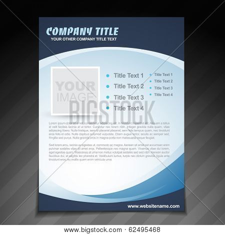 vector company flyer brochure design