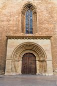 Valencia Romanesque Palau door of Cathedral in Spain