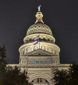 stock photo of granite dome  - The Texas State Capitol Building in downtown Austin - JPG