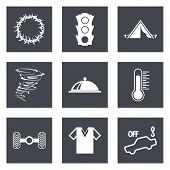 stock photo of hurricane clips  - Icons for Web Design and Mobile Applications set 43 - JPG