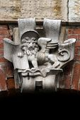 Venetian Lion  Crest At The Facade In Venice